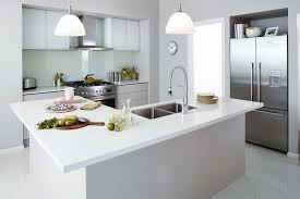 cabinets in eternity and frosted glass and think solid benchtops from bunnings