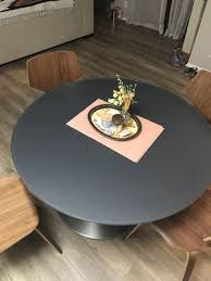 room board aria round kitchen dining table mid century modern for in