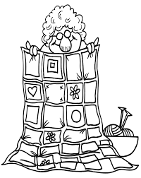 Small Picture Quilt Coloring Page Grandma Coloring Page