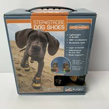 Led Dog Box Lights Kurgo Step N Strobe Dog Shoes Size L Led Lights New