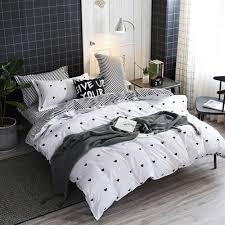 details about lamejor duvet cover sets queen heart shaped pattern bedding set comforter new