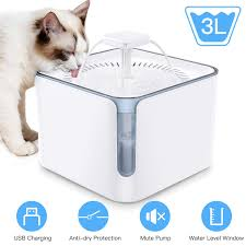Nemobub Cat Water Fountain,100ol/<b>3L Automatic Pet</b> Water ...