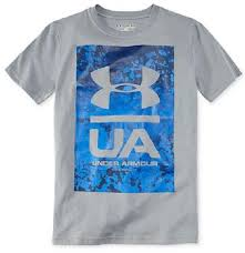 under armour shirts for boys. under armour kids knockout t-shirt - steel/blue shirts for boys y