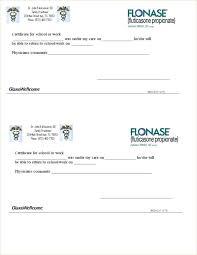 Free Printable Doctors Note For Work Blank Certificate