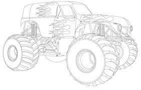 Small Picture Drawing Monster Truck Coloring Pages with Kids