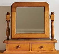 TFW Mottisfont Waxed Pine Arched Dressing Table Mirror - 2 Drawer