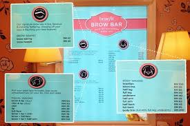 did you know that benefit cosmetics msia provide brow and waxing service yes they have these are some sneak k of the brow station in the boutique
