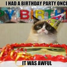 grumpy cat i had a birthday once. Unique Cat With Grumpy Cat I Had A Birthday Once H