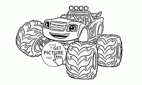 Blaze Monster Truck Coloring Pages Coloring Pages