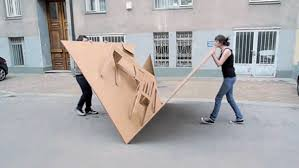 fold out cardboard furniture design inspired by pop up books