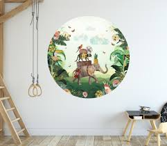 elephant in the jungle wall sticker
