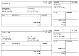 printable deposit slips 5 free deposit slip templates small business resource portal