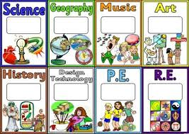 teaching resources and educational posters create a bright informative clroom display