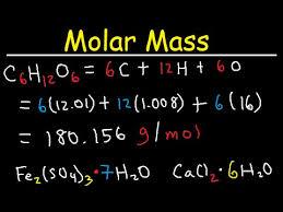 Molar Mass Calculations Of A Compound Chemistry Formula Weight Molecular Mass Problems