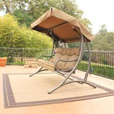 seat swing chair l patio swing canopy replacement gray stained metal based outdoor swing chair and 3 seat porch swing contemporary patio swing set beige