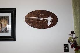 custom made fly fishing bait metal wall sign home decor