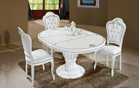 italian white furniture. extended view with white eco leather u0026 crystal chairs italian furniture o