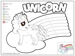 Coloring pages are fun for children of all ages and are a great educational tool that helps children develop fine motor skills, creativity and color recognition! Color By Number Unicorn Printable