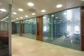 glass partition walls as wall 4