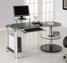 incredible unique desk design. Perfect Design Unusual Computer Desk Black Glass Stainless Steel Bookcase Monitor Grade Ceramic Chairs Incredible Style Marvelous Unique C