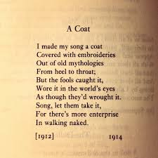 favourite poem >> a coat william butler yeats observations on favourite poem >> a coat william butler yeats