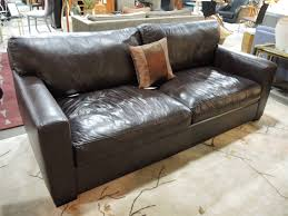 Sofas Center : Outstanding Vintage Leather Sectional Sofa In Crate within  Crate and Barrel Sectional Sofas