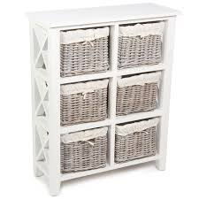 Wicker Basket Cabinet Wicker Merchant 6 Basket Tall Cabinet French Furniture From