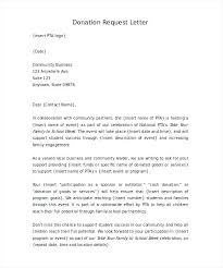 Thank You Letter For Donation Of Money Request Template