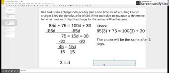 equations with variables on both sides word problems you