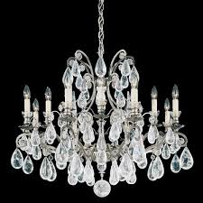 schonbek versailles 12 light antique pewter chandelier