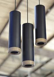 scope black metal and timber tubular pendant lights lighting from everything begins