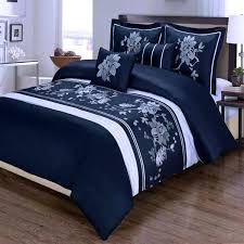 navy blue and white double duvet cover