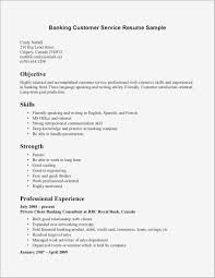 Bank Service Manager Resume Luxury Customer Service Call Center
