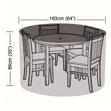protector 4 seater circular patio set cover 163cm