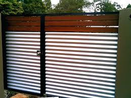 decorative corrugated metal fence panels gate design ideas spectacular