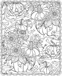 Small Picture Detailed Halloween Coloring Pages ScaryColoringPagesForAdults