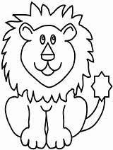 Simple Lion Coloring Pages