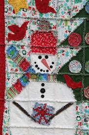 Christmas Rag Quilt pattern Snowman Rag Quilt 53 X & Christmas Rag Quilt pattern Snowman Rag Quilt 53