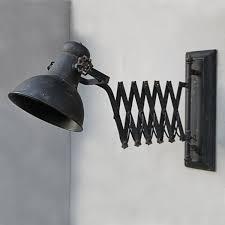 Industrielampe Wandlampe Wandleuchte Scherenarm Shabby Vintage Retro