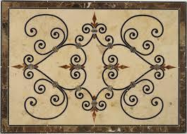 portofino 2 tile floor medallions