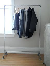 diy clothes rack pipe garment rack diy rolling pipe clothes rack