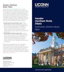 2 folded brochure template uconn templates brand standard