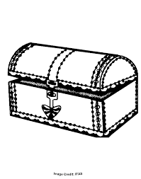 Treasure Chest Coloring Pages Coloring Home