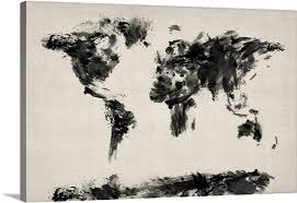 abstract black and white world map canvas on world map wall art canvas with abstract black and white world map wall art canvas prints framed