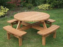 full size of round wood picnic table round picnic table couk garden outdoors table round wood