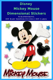 Make Your Own Mickey Mouse Invitations Disney Mickey Mouse Stickers Great For Scrapbooking Crafts Making