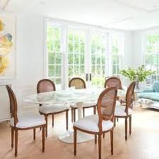 oval back dining chair marble table with round cane chairs