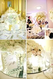 table mirror centerpiece on the wall make my wedding of all whole