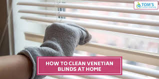 tag clean wooden venetian blinds