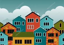 Cartoon Houses Seamless Stock Vector Anastasiiaku 11015515